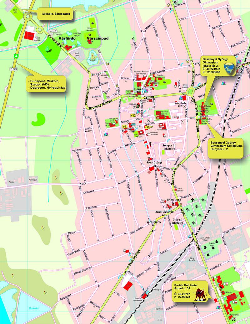 kisvárda térkép Magyar Tehetséggondozó Társaság   Konferenciák meghívói kisvárda térkép